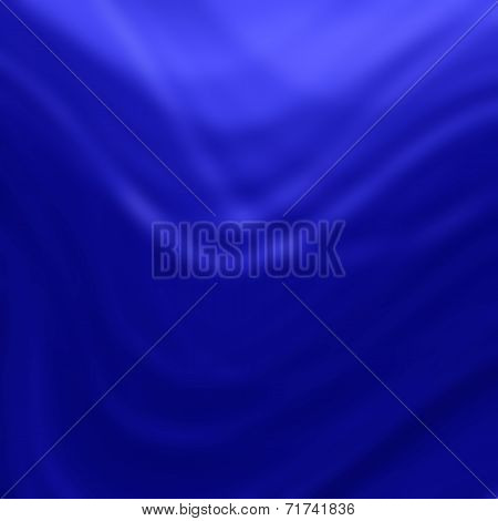 Abstract Blue smooth twist light lines background. poster