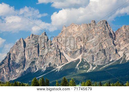 Beautiful Dolomite Mountains Near Cortina D'ampezzo ,pomagagnon Group, Sudtirol, Italy