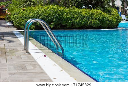 Outdoor Pool With Blue Water