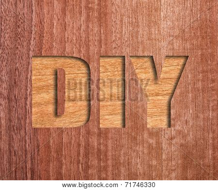 diy text on real wood