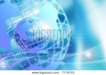 Blue Globe Background
