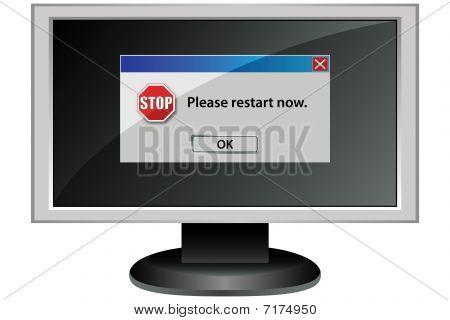 Computer Screen Message