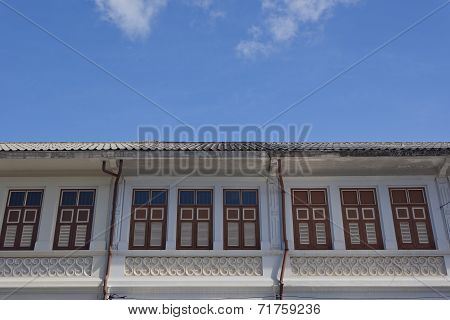 Sino-Portuguese Architecture influenced building in Phuket.