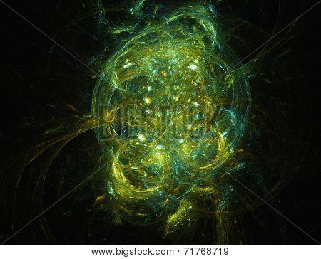 Crab nebula- the abstract illustration