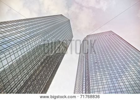 modern office towers in Frankfurt am Main, Germany