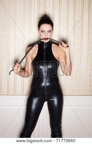 Sexy Woman Bite Whip