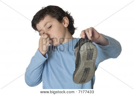 Child With A Stuffy Nose Taking A Boot