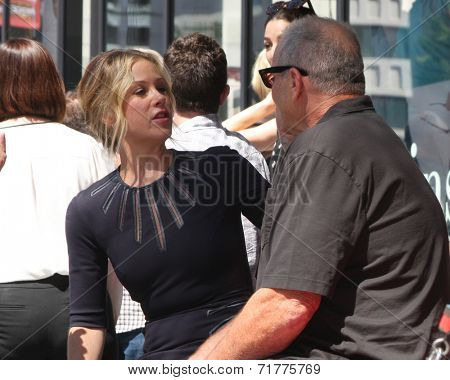 LOS ANGELES - SEP 9:  Christina Applegate, Ed O'Neill at the Katey Sagal Hollywood Walk of Fame Star Ceremony at Hollywood Blvd. on September 9, 2014 in Los Angeles, CA