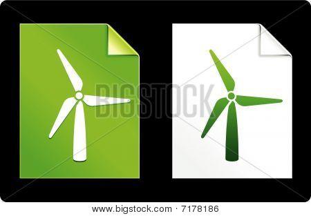 Wind Trubine On Paper Set