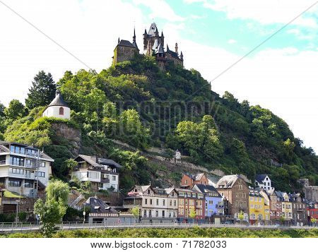 View Of Castle Over Cochem Town, Germany