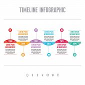 Infographic Vector Concept in Flat Design Style - Timeline Template for presentation, booklet, web and other creative design projects. poster