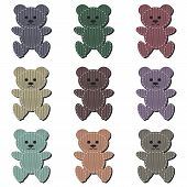 nice scrapbook teddy bears on white background poster