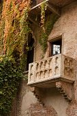 Famous balcony on the house in Verona claiming to be Juliet's poster