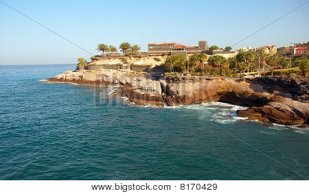 Fort On The Coast Of Tenerife Island. Canaries, Spain.