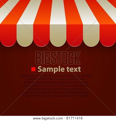 Store striped awning background