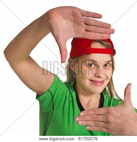 Girl Making Grimace