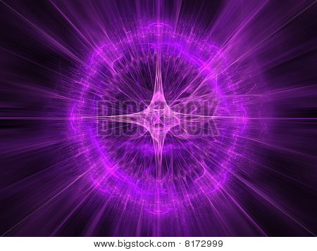 abstract fractal radial pattern
