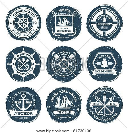 Nautical Labels And Stamps
