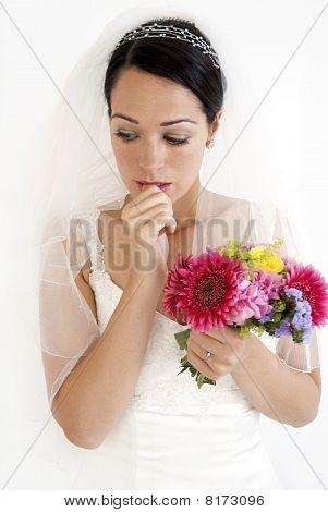 Worrying bride