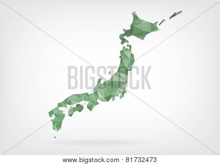 Low Poly map of Japan