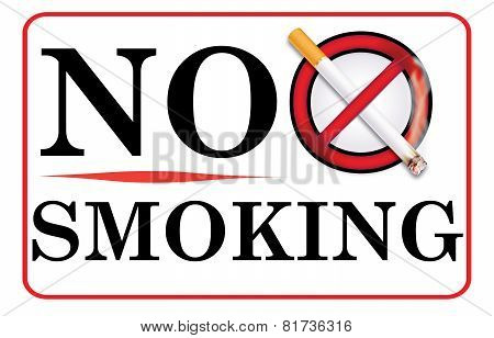 No smoking sticker for print