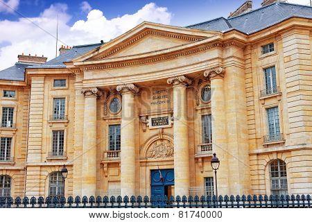 Paris University (faculty Of Law) Near The Pantheon. Paris. France.