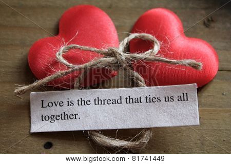 Love is the thread that ties us all together