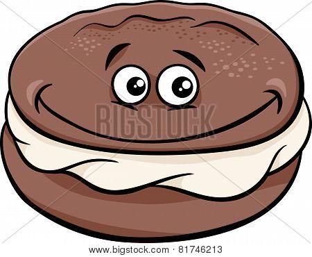 Whoopie Pie Cartoon Illustration