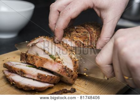 Slicing Pork Fillet
