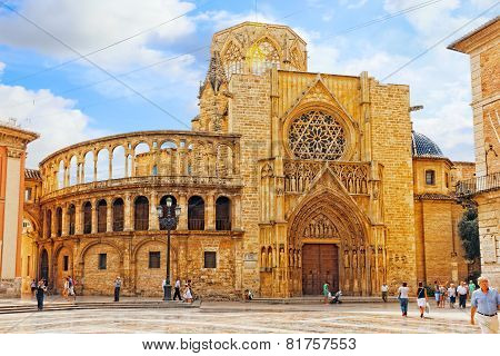 VALENCIA, SPAIN - SEPT 10: Cityscape of Valencia. September 10, 2014 in Valencia, Spain.