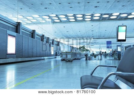 Interior Of A Modern Airport.