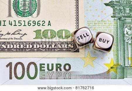 Dices Cubes, Usd,eur  Banknotes