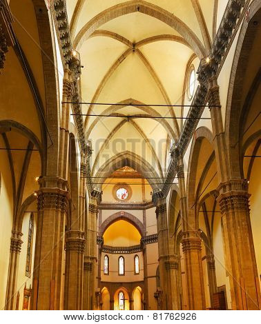 Duomo Santa Maria Del Fiore . Florence. Interior.