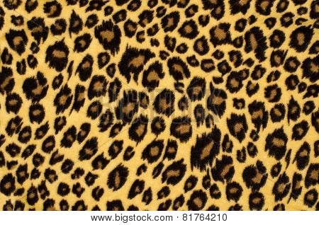 Brown leopard fur pattern.