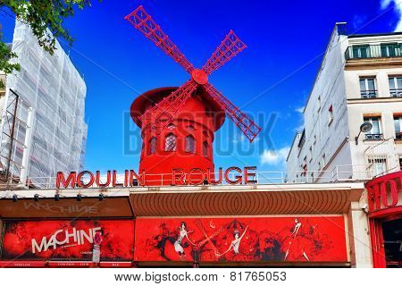 Paris, France - September 20: The Moulin Rouge During The Day, On September 20, 2013 In Paris, Franc