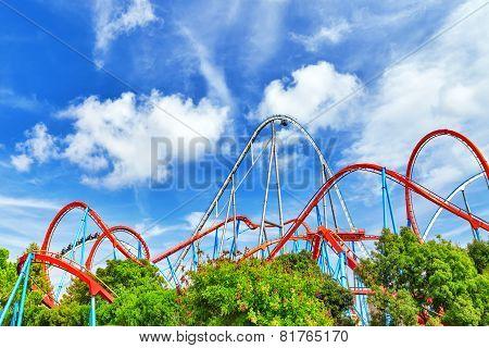 Amusement park in Spain near Salou- Port Aventura near Salou Spai