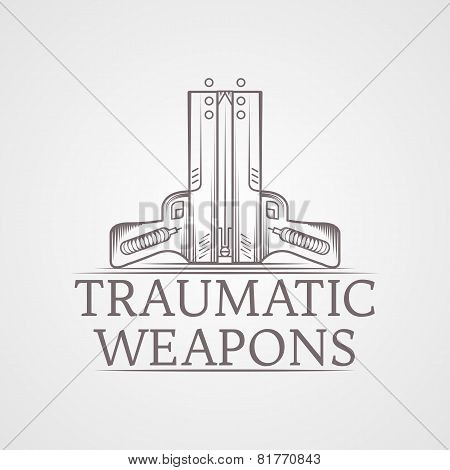 Abstract vector illustration of traumatic weapons