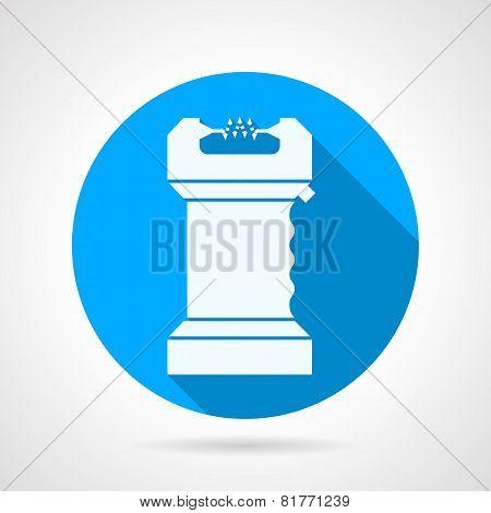 Electroshock flat vector icon