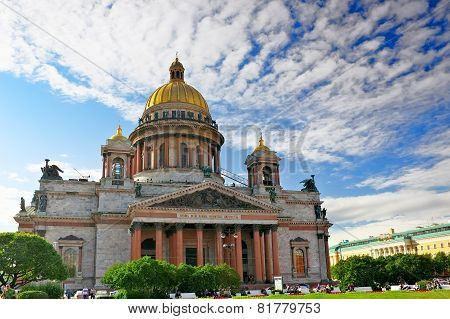 Saint Isaac's Cathedral in St Petersburg, Russia. poster