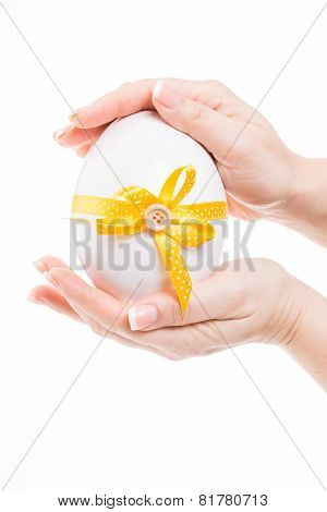 Cute Easter Egg With Yellow  Loop