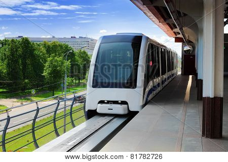 Monorail Fast Train On Railway