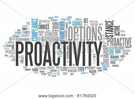 Word Cloud Proactivity