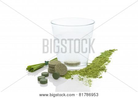 Spirulina, Chlorella And Young Barley.