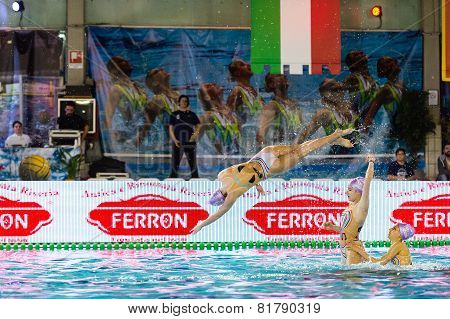 Milan - January 10: Syncro Team  Bpm Sport Management Performing  Free Combination During The Synchr