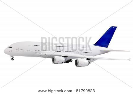 Modern Airplane  On White.