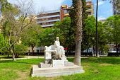 Statue in park of Valencia -for Ramon Gomez Ferrer Catalonia. poster