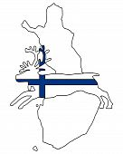 Detailed and colorful illustration of finnish reindeer poster