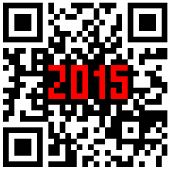 2015 New Year counter, QR code vector. poster