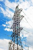 Power Transmission Line in outdoor land view. poster