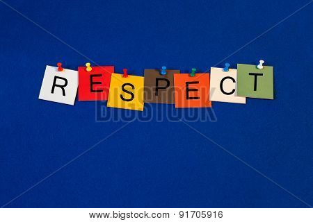 Respect, Sign For Conduct, For Business Presentations, Seminars And Lectures.